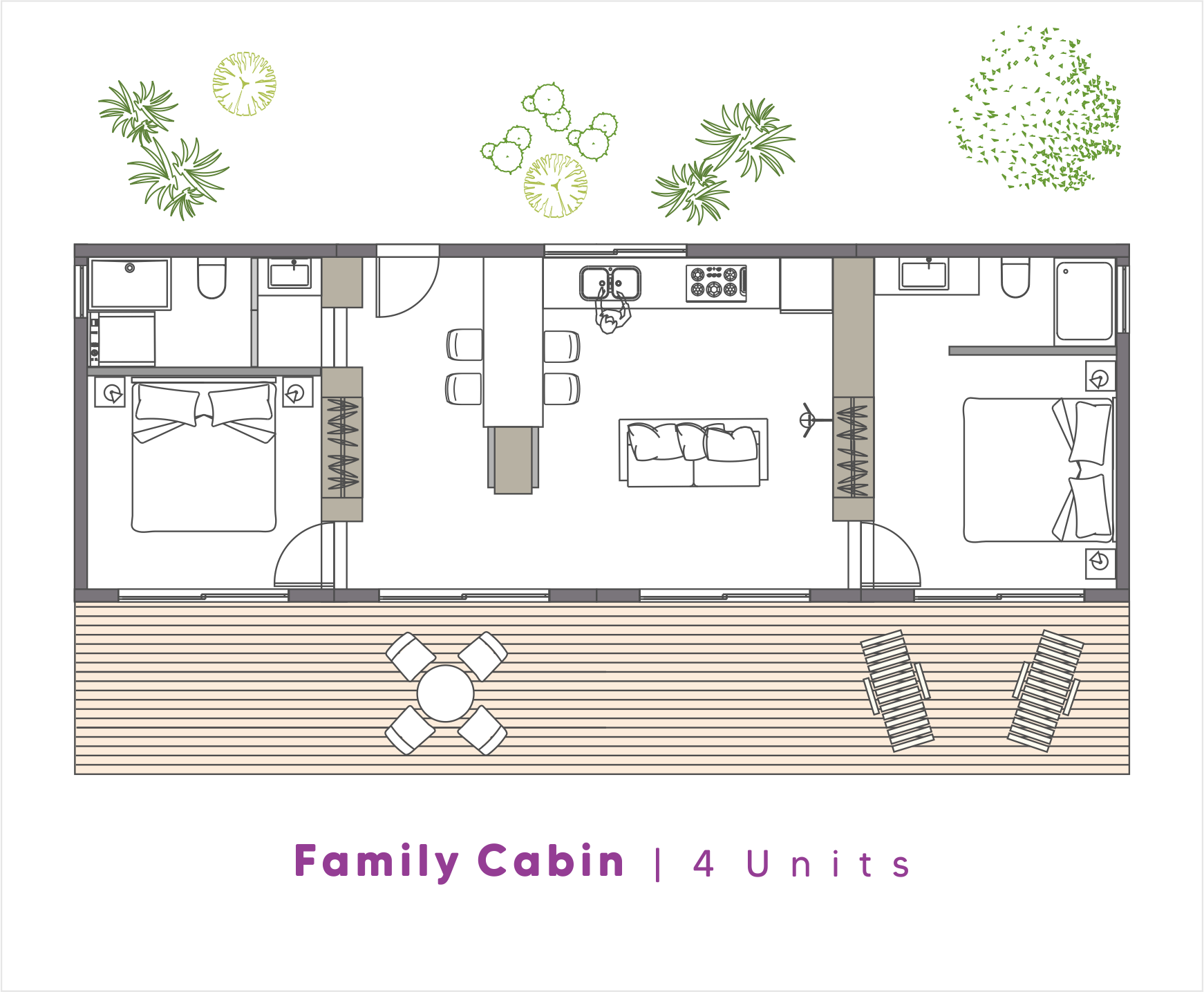 NoRootsHomes Modular Eco Home | Family Cabin | 4 Units